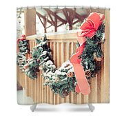 Christmas Swag Shower Curtain
