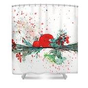 Christmas Theme 2 Shower Curtain
