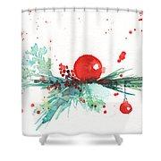 Christmas Theme 3 Shower Curtain