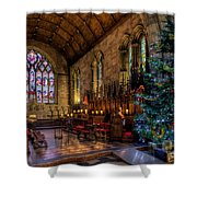 Christmas Time Shower Curtain by Adrian Evans