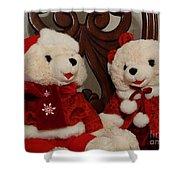 Christmas Time Bears Shower Curtain