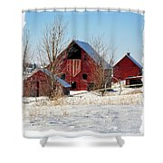 Christmas Time In Idaho Falls Shower Curtain