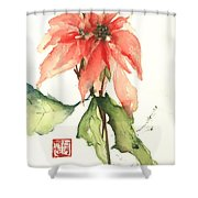 Christmas Tradition Shower Curtain by Sherry Harradence