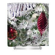 Christmas Tree Baubles Shower Curtain