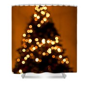 Christmas Tree Bokeh Shower Curtain