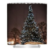 Christmas Tree Dover Nh Shower Curtain