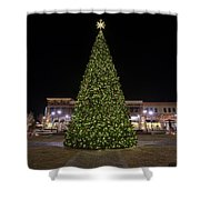 Christmas Tree Hampton City Center  Shower Curtain