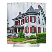 Christmas Tree Haus Shower Curtain