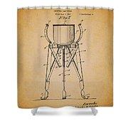 Christmas Tree Holder Patent 1927 Shower Curtain