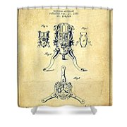 Christmas Tree Holder Patent From 1880 - Vintage Shower Curtain
