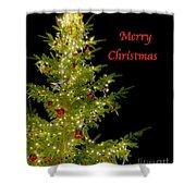 Christmas Tree Lighting Shower Curtain