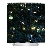 Christmas Tree Lights Shower Curtain