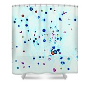 Christmas Tree Lights Invert Shower Curtain