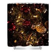 Christmas Tree Ornaments 3 Shower Curtain