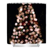 Christmas Tree Out Of Focus Shower Curtain