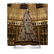 Christmas Tree Shower Curtain by Sandy Keeton