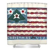 Christmas U.s.a. Shower Curtain
