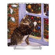 Christmas Visitor Shower Curtain