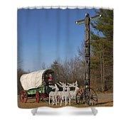 Christmas Wagon Shower Curtain