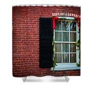 Christmas Window #1 Shower Curtain