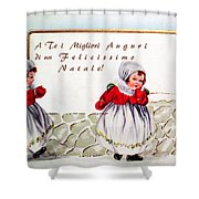 Christmas Wishes In Italian Shower Curtain