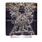 Christmas Wreath Ice Sculpture Shower Curtain