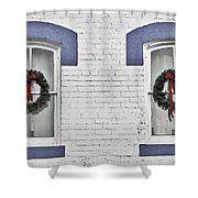 Christmas Wreaths  Shower Curtain