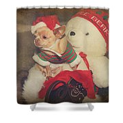 Christmas Zoe Shower Curtain by Laurie Search