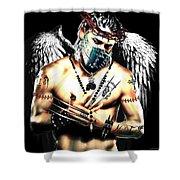 Christy Angel Mask Shower Curtain