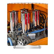 Chrome Colored Stacks Shower Curtain