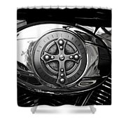 Chrome Cross - 96 Cubic Inches Shower Curtain