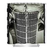 Chrome Grill Shower Curtain