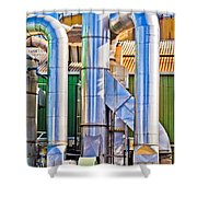 Chrome Industry Shower Curtain