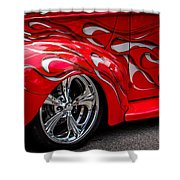 Chrome Red Shower Curtain