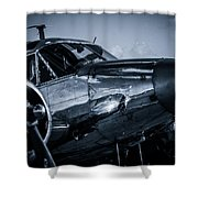 Chrome Twin-engined Beauty Shower Curtain