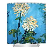 Chrysanthemum Floral Shower Curtain