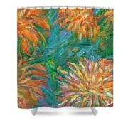 Chrysanthemum Shift Shower Curtain