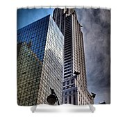 Chrysler Building From Below Shower Curtain