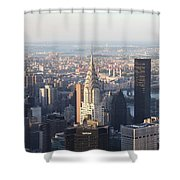 Chrysler Building From The Empire State Building Shower Curtain