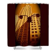 Rockefeller Building In Manhattan Shower Curtain