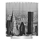 Chrysler Building New York Black And White Shower Curtain