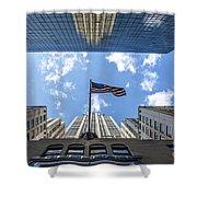 Chrysler Building Reflections Horizontal Shower Curtain
