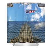 Chrysler Building Reflections Vertical 1 Shower Curtain