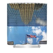 Chrysler Building Reflections Vertical 2 Shower Curtain
