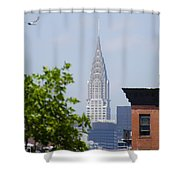 Chrysler Building View Shower Curtain