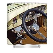 Chrysler Interior Steering Wheel Classic Car American Made Shower Curtain