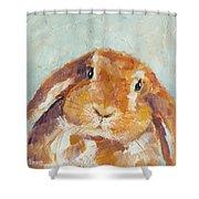 Chubby Bunny Shower Curtain