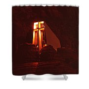 Chapel At Night Shower Curtain