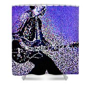 Chuck Berry Rocks Abstract Shower Curtain