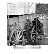 Chuck Wagon - Bw 02 Shower Curtain
